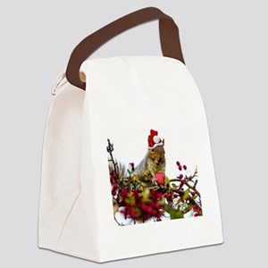 Christmas squirrel Canvas Lunch Bag