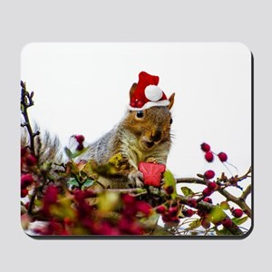 Christmas squirrel Mousepad