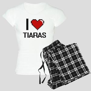 I love Tiaras digital desig Women's Light Pajamas
