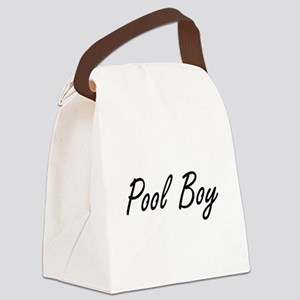 Pool Boy Artistic Job Design Canvas Lunch Bag