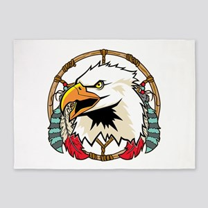 Eagle Dream Catcher 5'x7'Area Rug