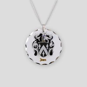 Jones Family Crest /Coat of Necklace Circle Charm