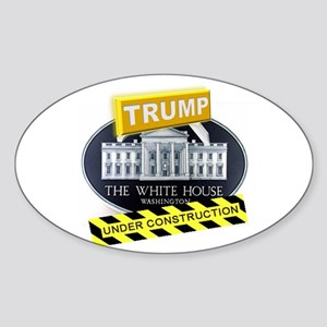 Trump White House Sticker (Oval)