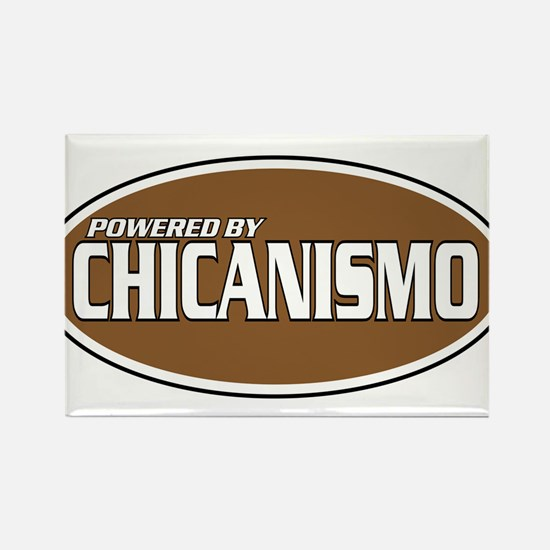 Powered By Chicanismo Rectangle Magnet