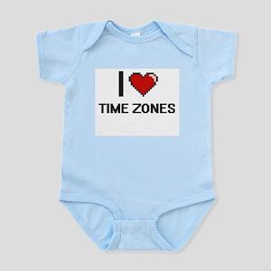 I love Time Zones digital design Body Suit