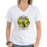 Camus Family Crest Women's V-Neck T-Shirt