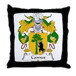 Camus Family Crest Throw Pillow