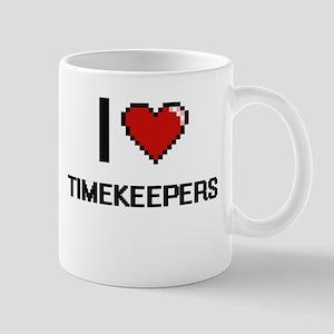 I love Timekeepers digital design Mugs