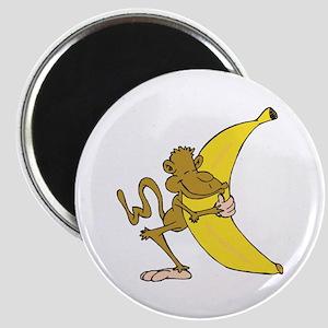 Silly Monkey Hugging Banana Magnet