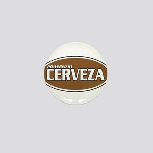 Powered By Cerveza Mini Button