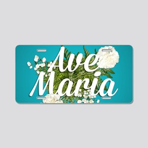 Ave Maria Aluminum License Plate