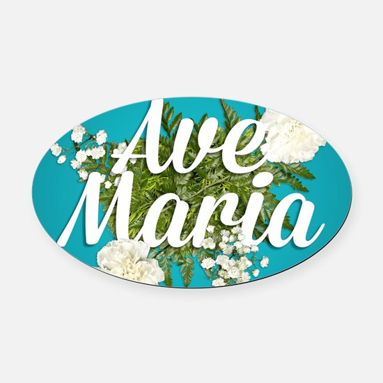Ave Maria Oval Car Magnet