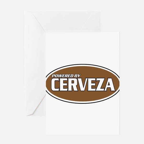 Powered By Cerveza Greeting Card
