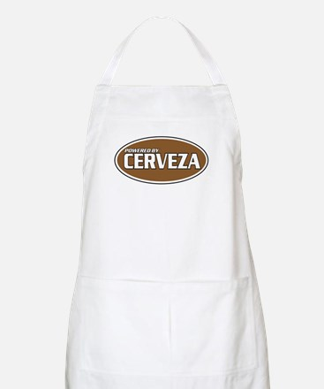 Powered By Cerveza BBQ Apron