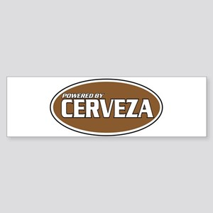 Powered By Cerveza Bumper Sticker
