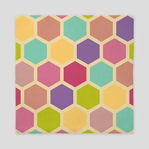 Hexagon Pastel Queen Duvet