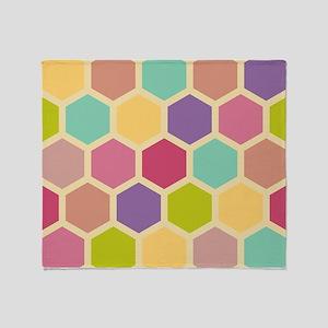 Hexagon Pastel Throw Blanket