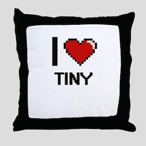 I love Tiny digital design Throw Pillow