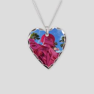 Art Robot Necklace Heart Charm
