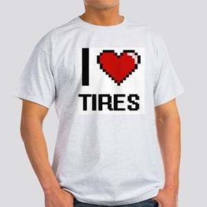 I love Tires digital design T-Shirt