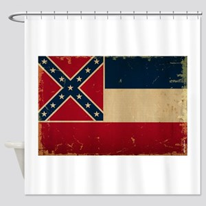 Mississippi State Flag Shower Curtain