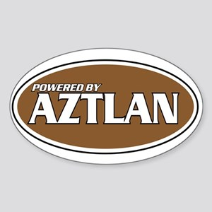 Powered By Aztlan Oval Sticker
