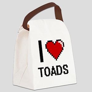 I love Toads digital design Canvas Lunch Bag