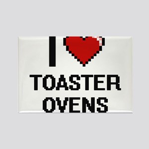 I love Toaster Ovens digital design Magnets