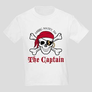 Pirate Birthday Age 5 T-Shirt