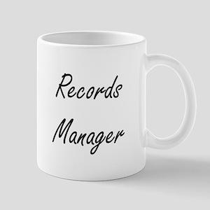 Records Manager Artistic Job Design Mugs