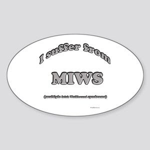 Wolfhound Syndrome Oval Sticker