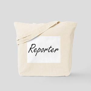 Reporter Artistic Job Design Tote Bag