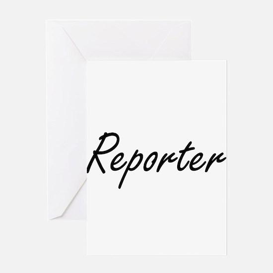 Reporter Artistic Job Design Greeting Cards