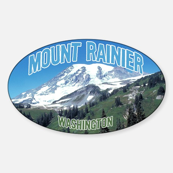 Mount Rainier National Park Oval Decal