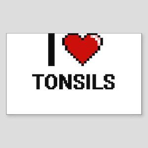 I love Tonsils digital design Sticker