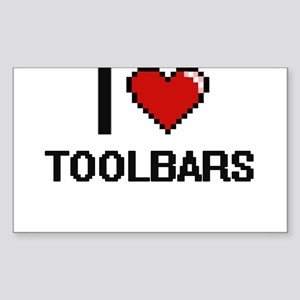 I love Toolbars digital design Sticker