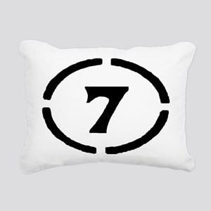 Circle 7 Rectangular Canvas Pillow