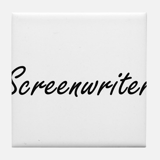 Screenwriter Artistic Job Design Tile Coaster