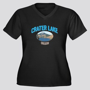Crater Lake National Park Women's Plus Size V-Neck