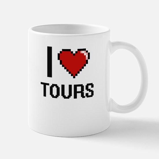 I love Tours digital design Mugs