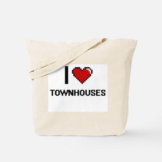 I love Townhouses digital design Tote Bag