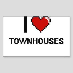 I love Townhouses digital design Sticker