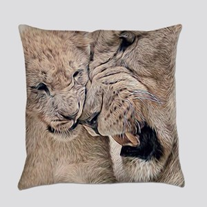 Gambling Lions Everyday Pillow