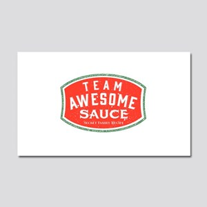 Team Awesome Sauce Car Magnet 20 X 12