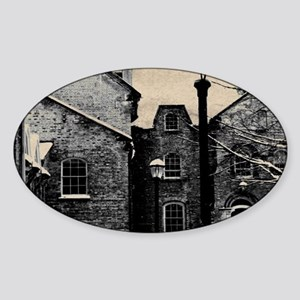 vintage church street light Sticker