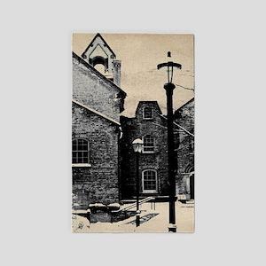 vintage church street light Area Rug