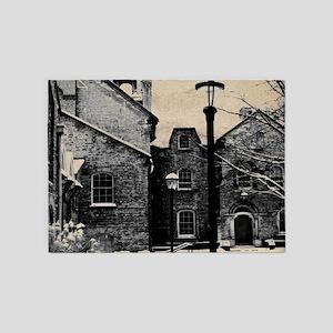 vintage church street light 5'x7'Area Rug