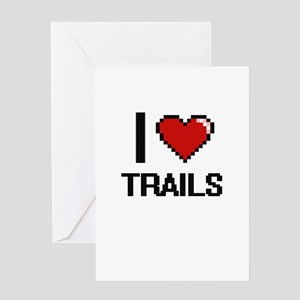 I love Trails digital design Greeting Cards
