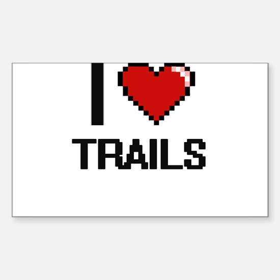 I love Trails digital design Decal