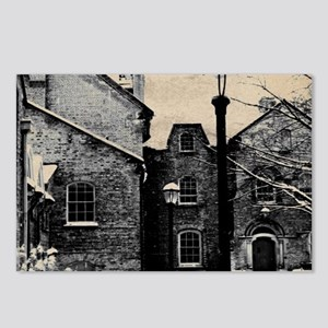 vintage church street lig Postcards (Package of 8)